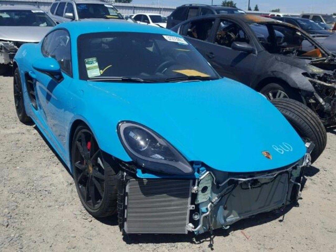 salvage 2017 #Porsche #Cayman #s www.bidgodrive.com #germancars ...