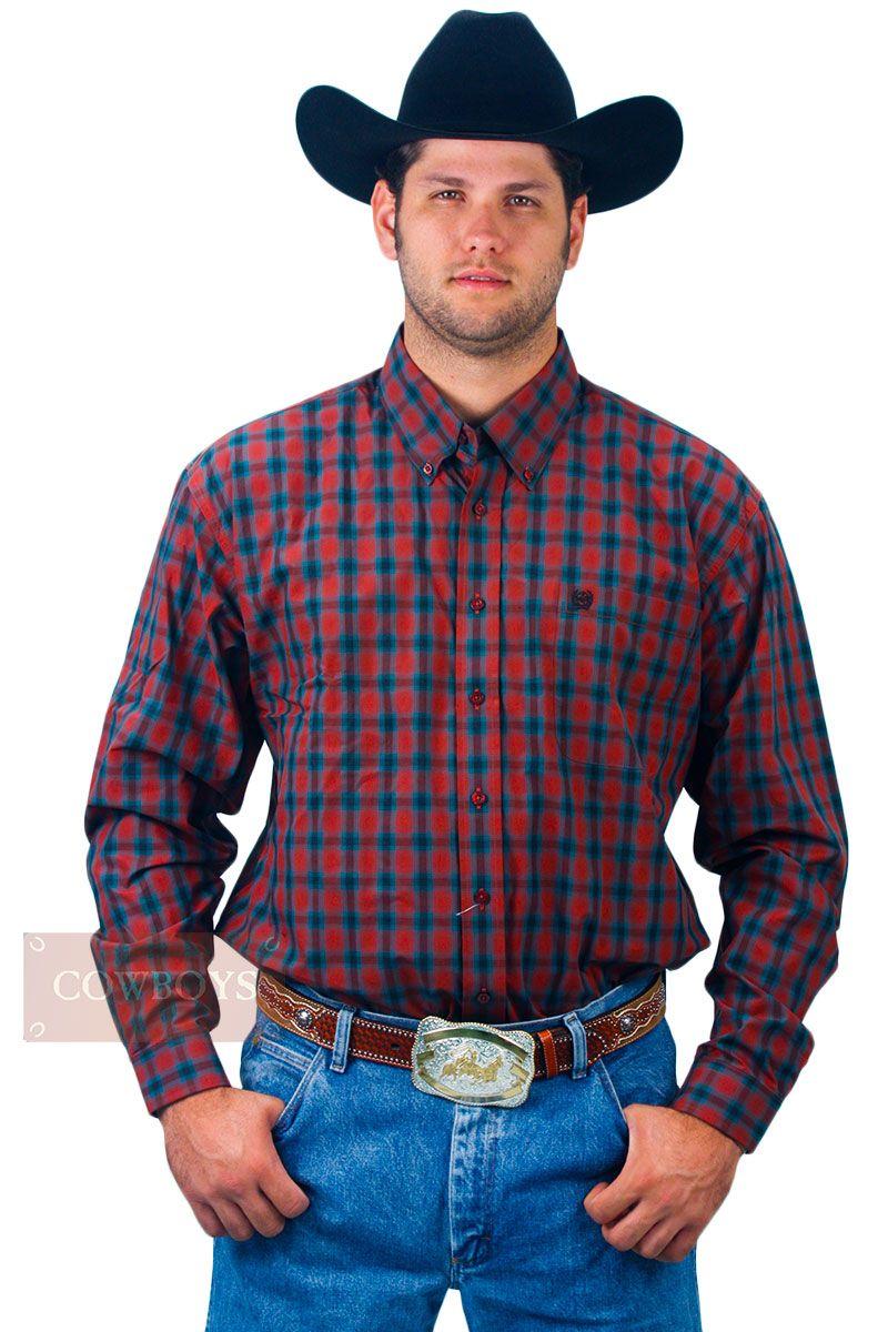 9d1a52ea57 Camisa Masculina Cinch Manga Longa Xadrez Vinho Camisa masculina manga  longa xadrez predominando a cor vinho com fechamento em botões
