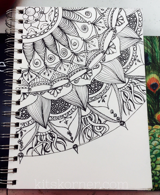 Sketchbook Open Composition Mandalas Sketch Book Mandala Art Doodle Art