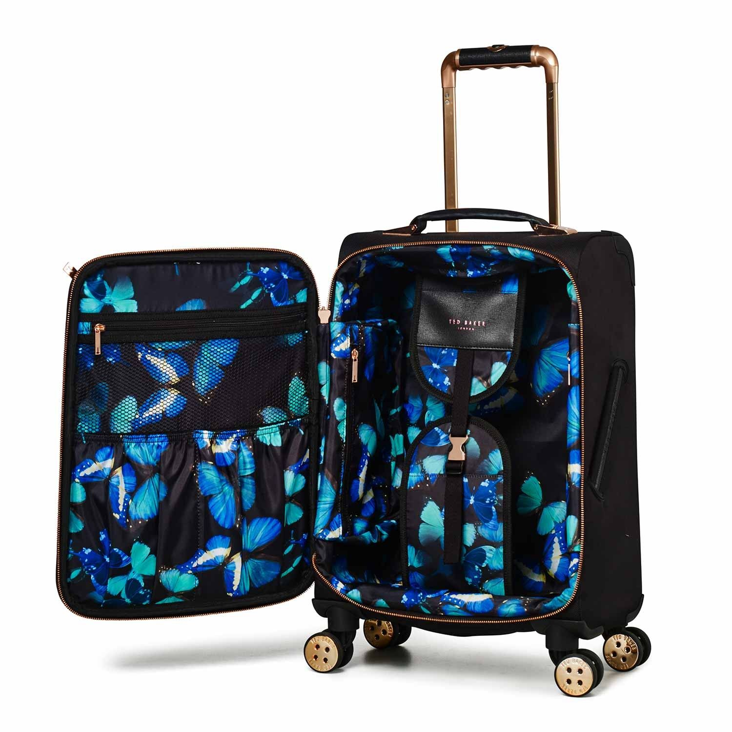 03d50e0c0f10 Luggage Ted Baker Albany Collection TBW5003 4 Wheel Cabin Case Black Rose  Gold
