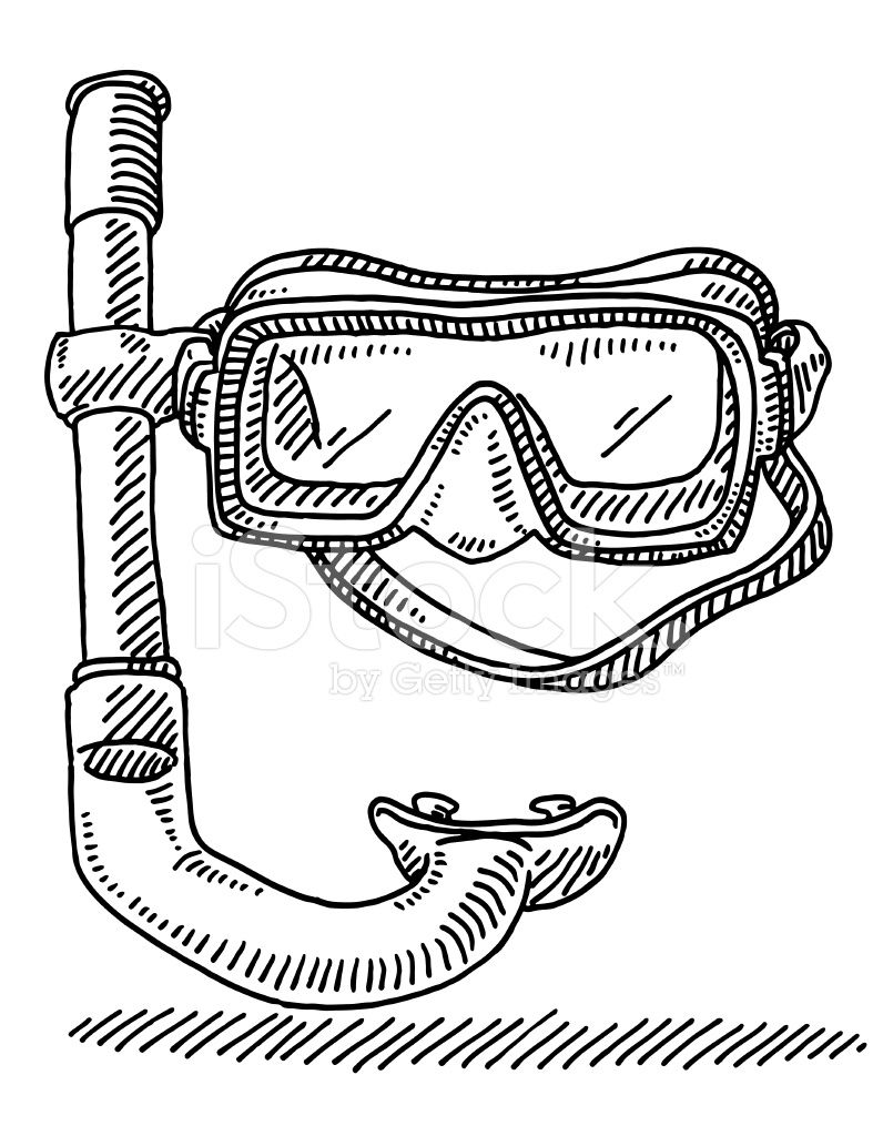 Diving Goggles Snorkel Drawing Diving Goggles Drawings