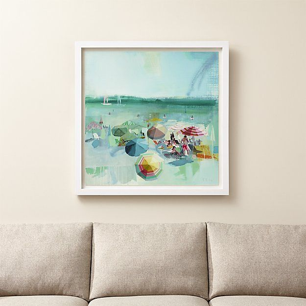 Beach Dear Print Beach Wall Art Crate And Barrel Beach Art