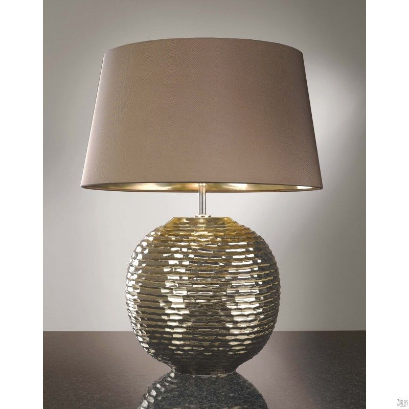 Table lamp silver table lamp ball sphere gold metal chrome steel