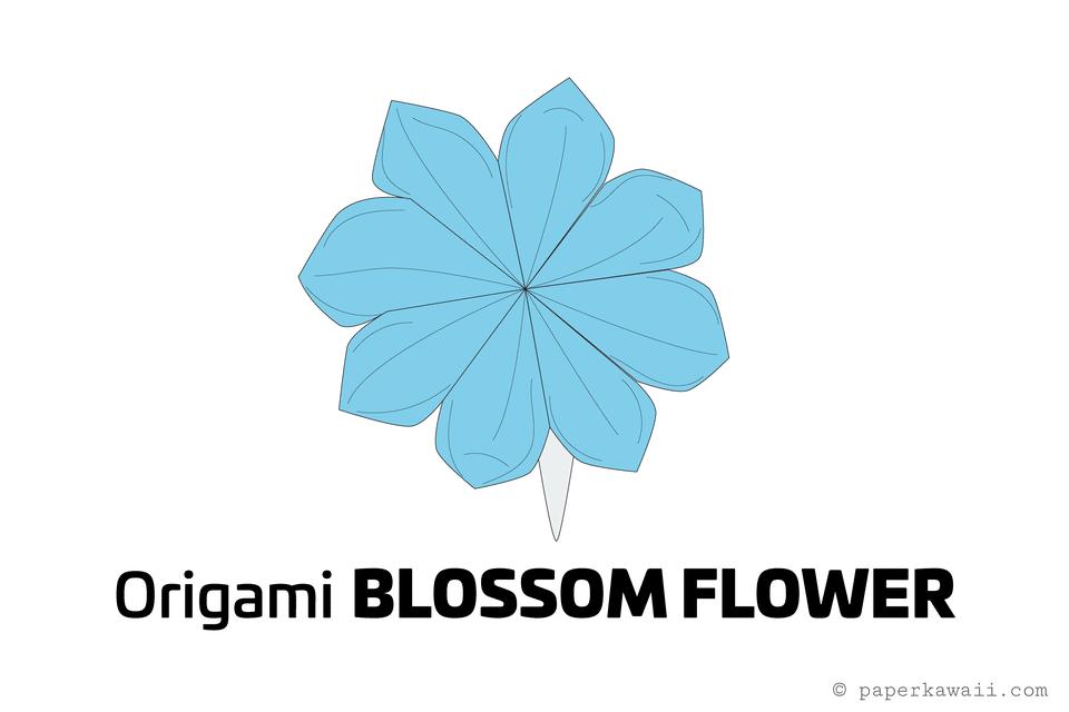 How to make a pretty origami blossom flower origami origami flower origami blossom flower diagram 01 mightylinksfo