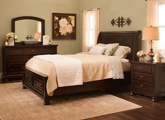 Donegan 4 Pc King Bedroom Set King Bedroom Sets Cherry Bedroom Furniture Bedroom Set