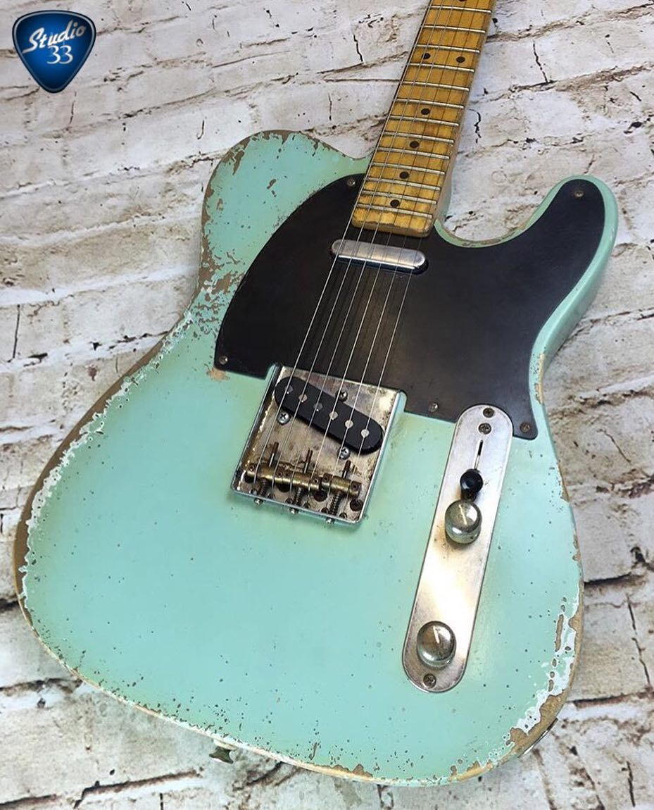 How do you like this aged seafoam green #tele from @fraserguitars ...