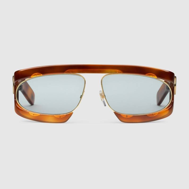 f7567e50ef8 Shop the Rectangular-frame acetate sunglasses by Gucci. null