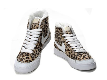 Fluffy Nike Blazer Leopard Print For Sale