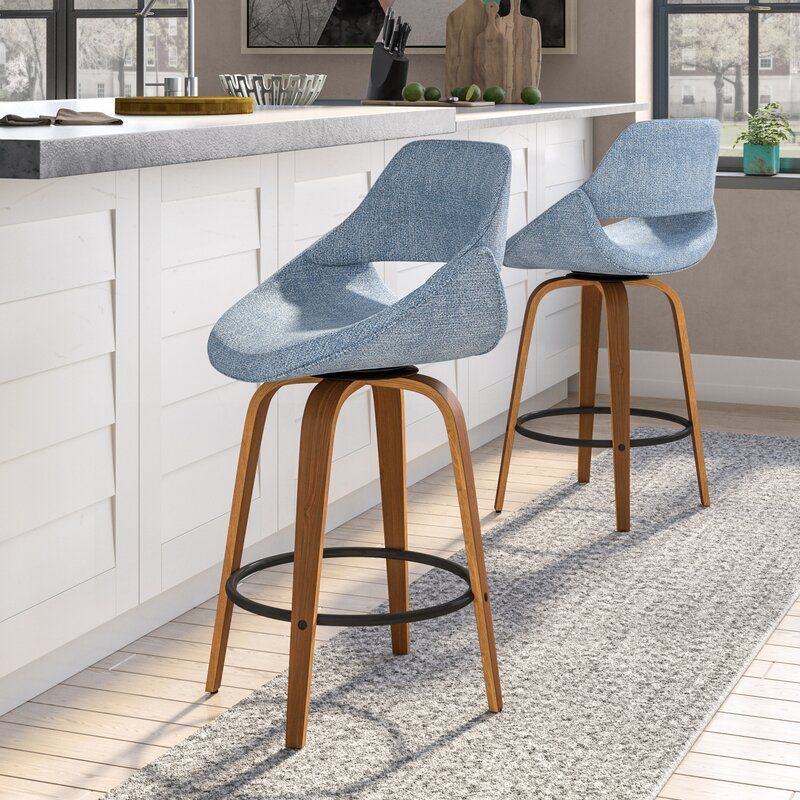 Alisha 26 Swivel Bar Stool In 2021 Bar Stools Swivel Bar Stools Furniture