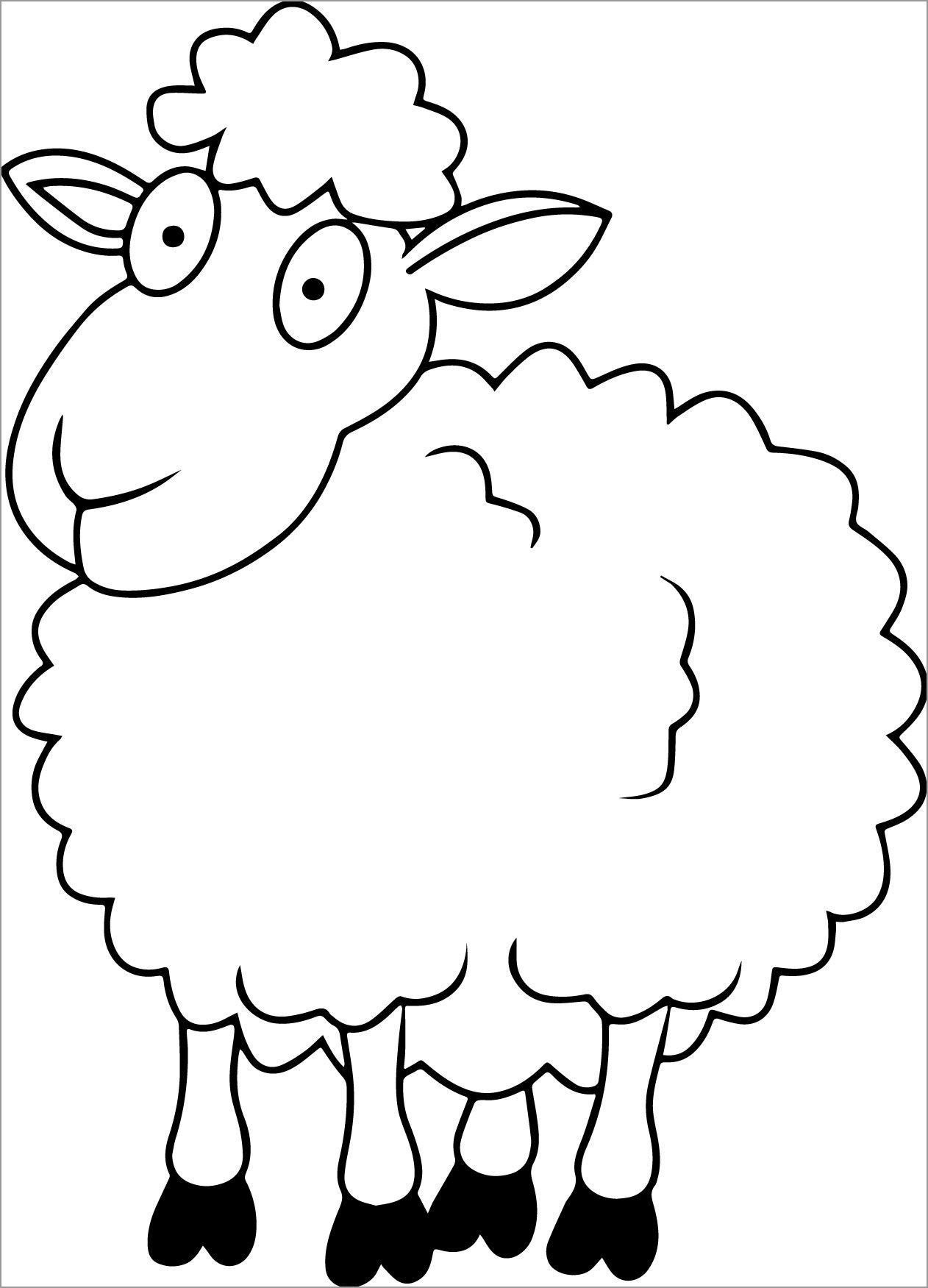 Lion Lamb Coloring Page In