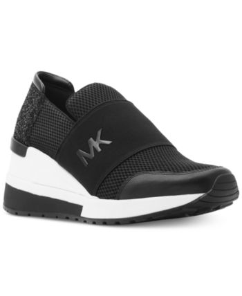 ac3d01a2 Michael Michael Kors Felix Bubble Trainer Sneakers - Black Snake in ...