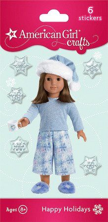 5610372cee2 American Girl Crafts Bubble Stickers - Snowflake PJ's, http://www.amazon