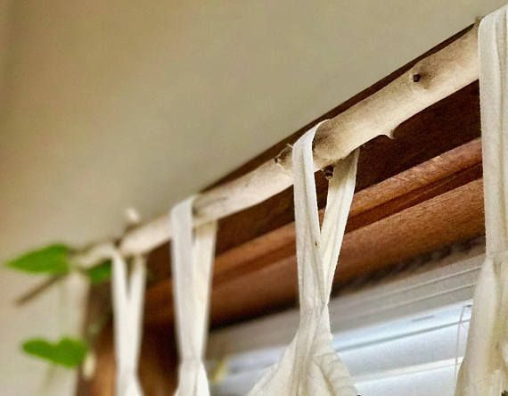driftwood curtain rods with hand forged