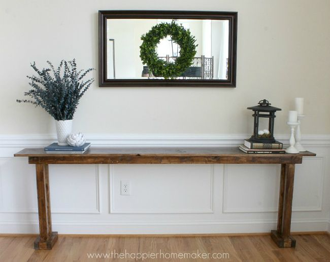 Good A Narrow Console Table Like This One Blends In With A Homeu0027s Decor While  Also Adding Extra Surface Space.