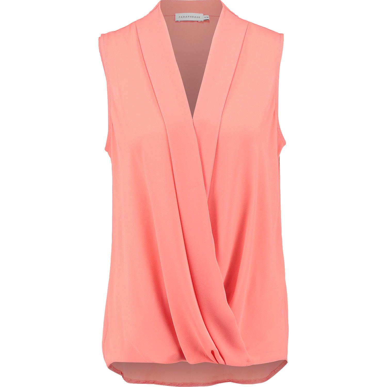 Paraphrase Coral Draped Foldover Blouse Fashion How To Wear Jacket Tk Maxx