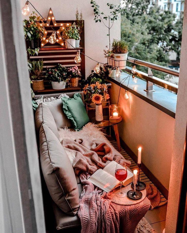 Bohemian Decor auf Instagram: Bildnachweis: @smyk_w_kuchni_blog #Balconydes   - Balkon Gemütlich - #wohnungbalkondekoration