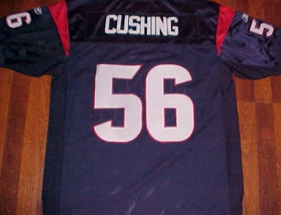 brian cushing 56 houston texans nfl afc south reebok blue red football jersey 50