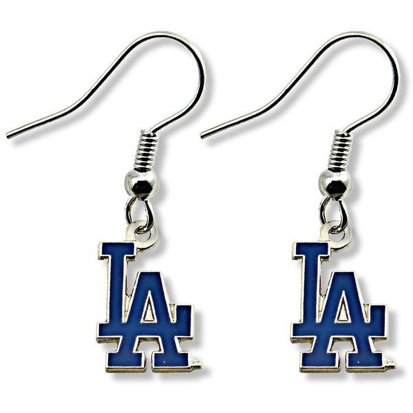 Los Angeles Dodgers Earrings 5 35 Liked On Polyvore Featuring Jewelry