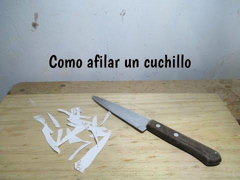 Como Afilar Cuchillo Youtube En 2020 Como Afilar Cuchillos Cuchillos Tallado En Madera