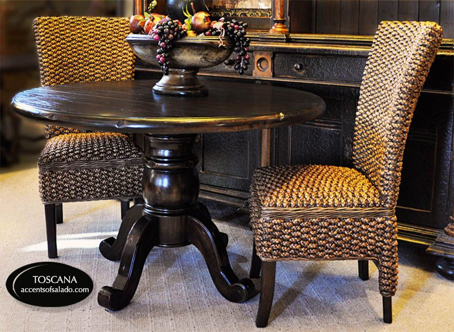 Round Tuscany Style Dining Tables at Accents of Salado Accents of