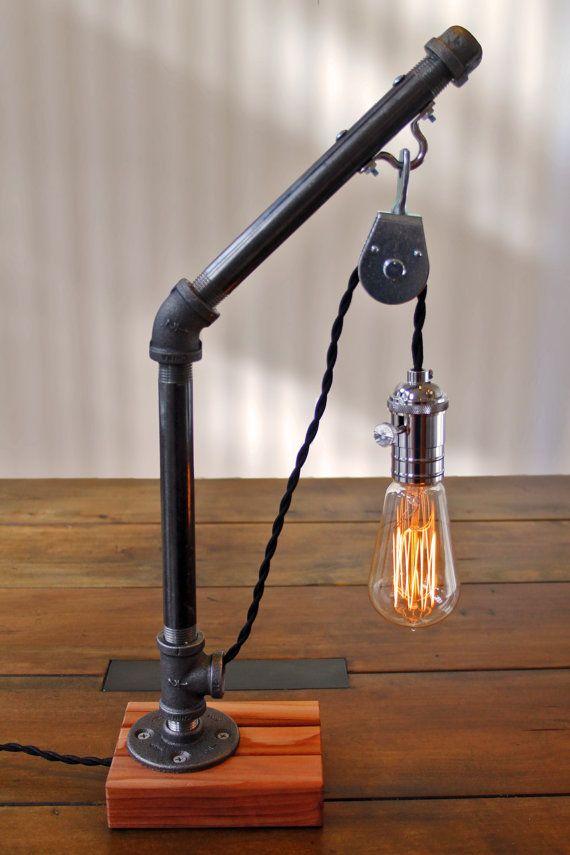Edison Lamp, Pulley Lamp, Industrial Lighting, Pipe Lamp