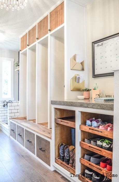 The Mudroom: Rough Sawn Panels by PureBond images