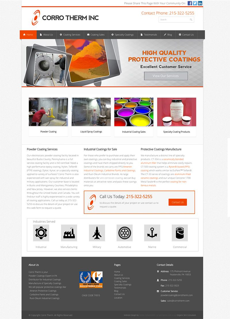 Corro Therm Powder Coating Industrial Paints Wordpress Web Design Web Design Powder Coating