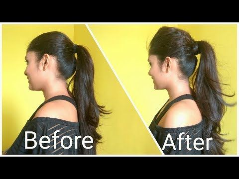 Volumized Ponytail Hairstyle For Medium Hair The Perfect High Ponytail For School College Ponytail Hairstyles Medium Hair Styles Ponytail Hairstyles Easy