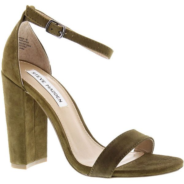 Steve Madden Carrson ($90) ❤ liked on Polyvore featuring shoes, olive, steve