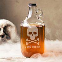64 Oz Personalized Skull & Crossbones Craft Beer Growler -   19 crafts beer growler ideas