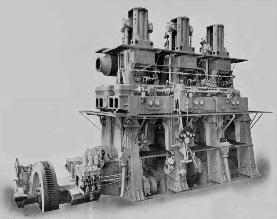 Doxford 2-Stroke Opposed=-Piston Main Propulsion Marine