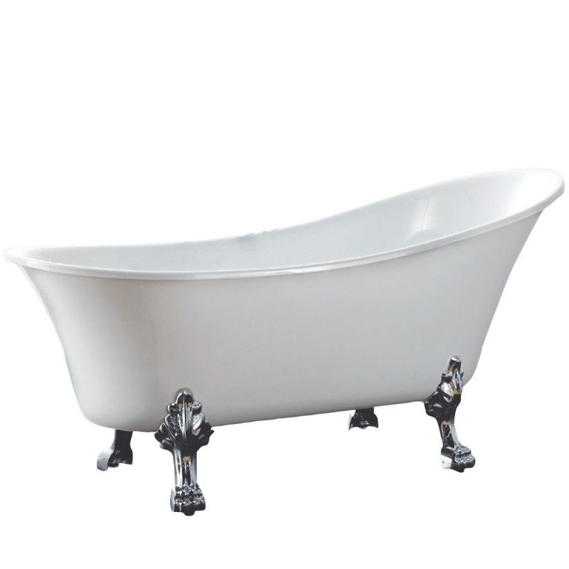 Alto Free Standing Bath 499 acrylicchrome feet Height 780 x