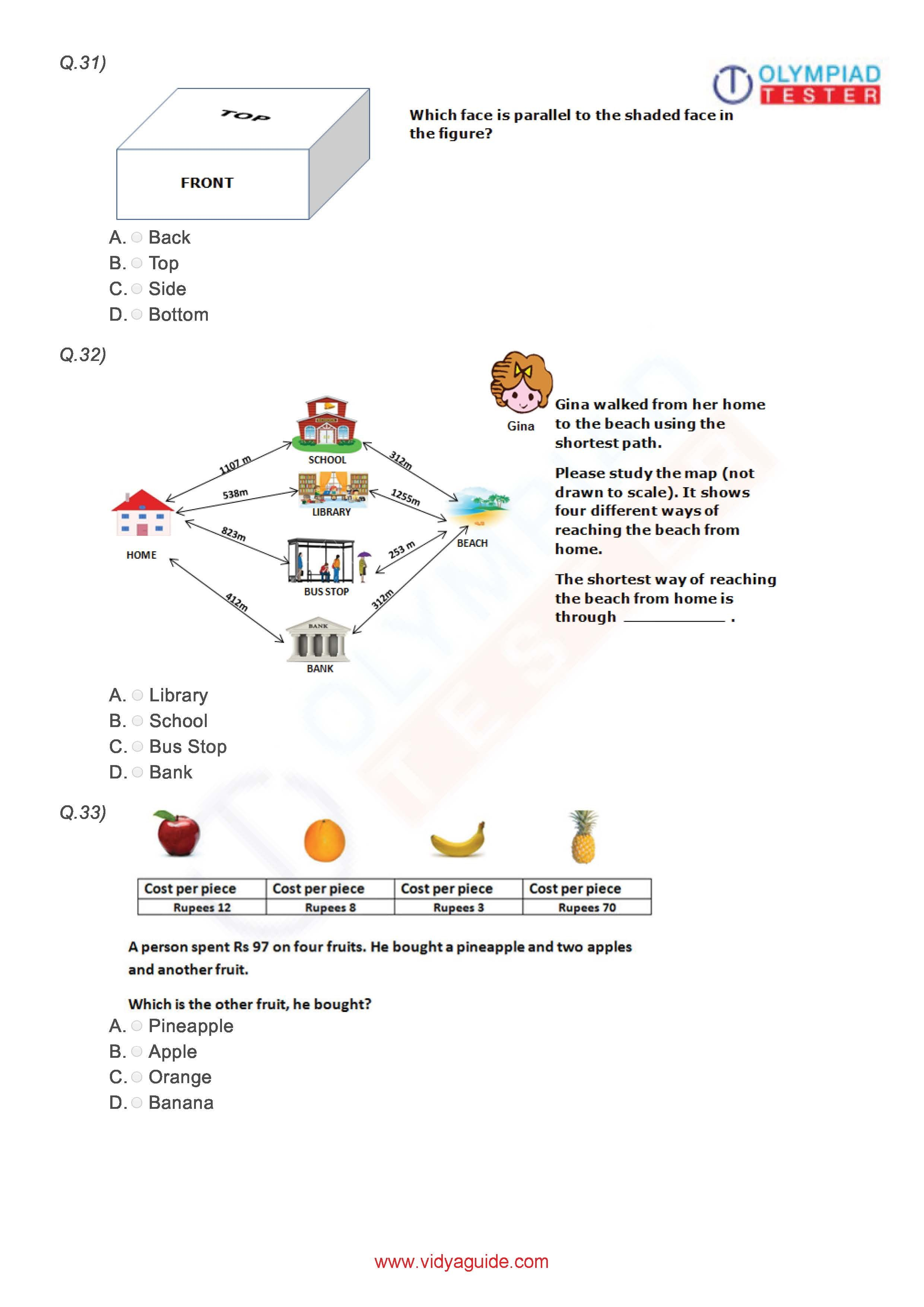 Class 3 Imo Worksheet 03
