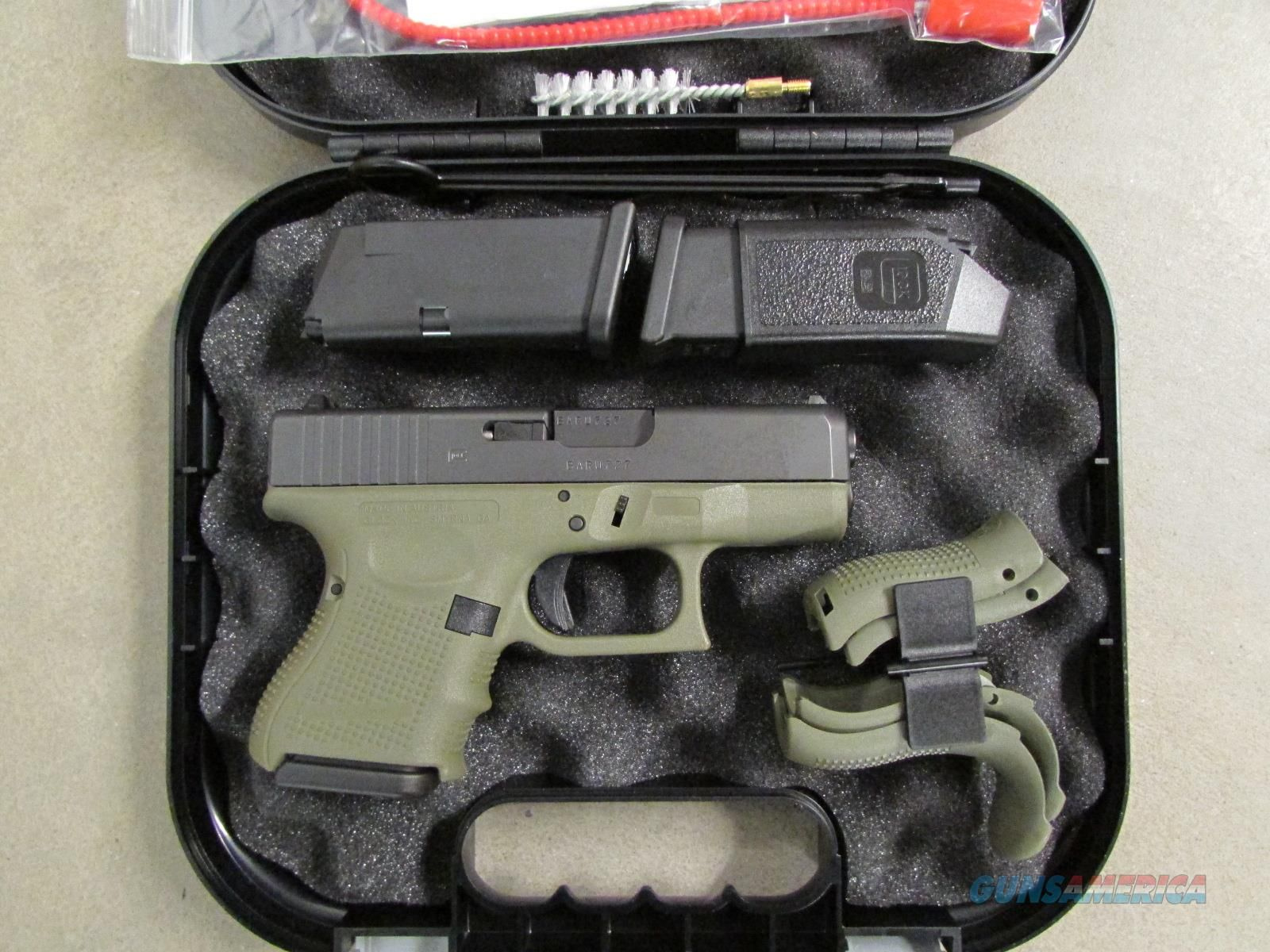 Glock 23 G23 Gen4 Battlefield Green Frame .40 S&W PG235... Loading that  magazine is a pain! Get your Magazine speedloader today! http://www.amazon…