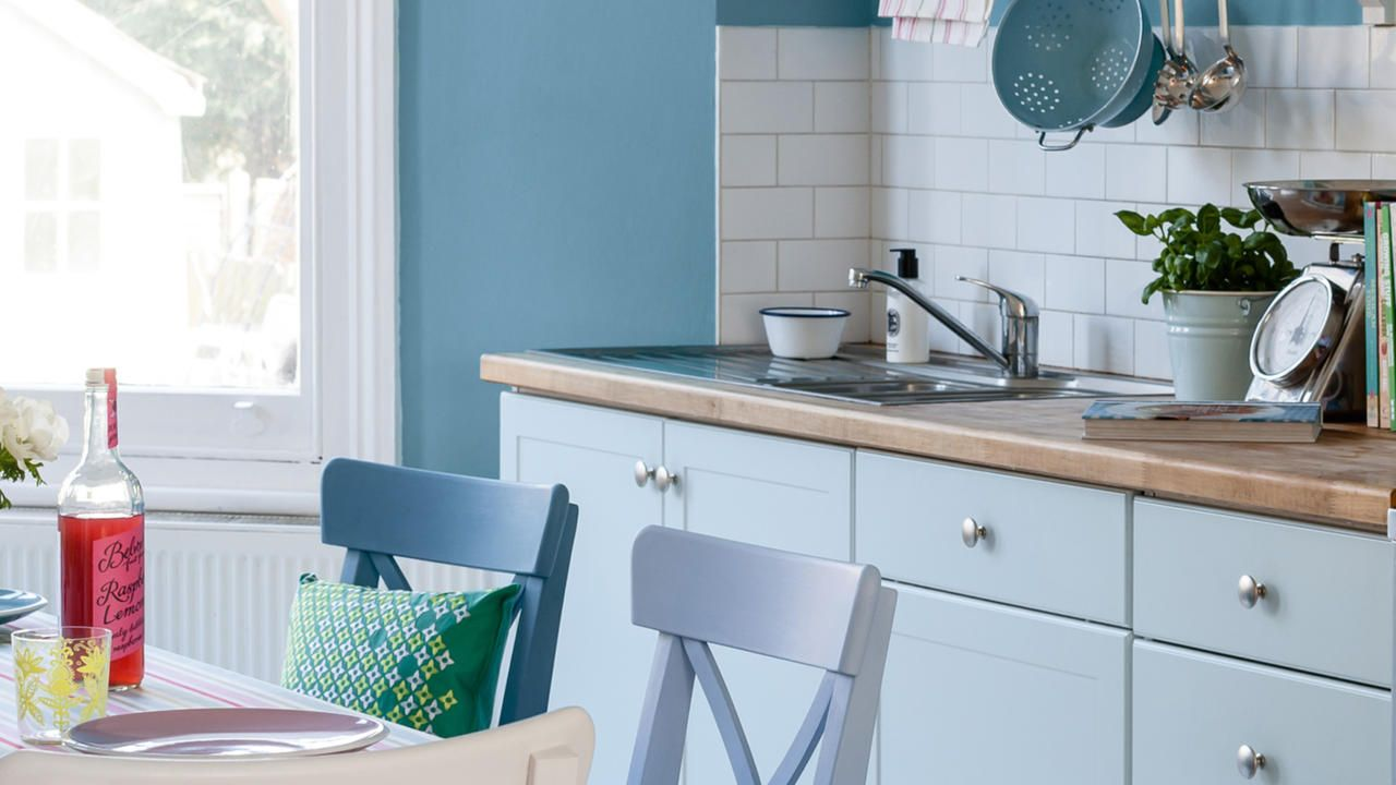 Dulux Stonewashed Blue™ Kitchen paint. Absolutely love this colour ...