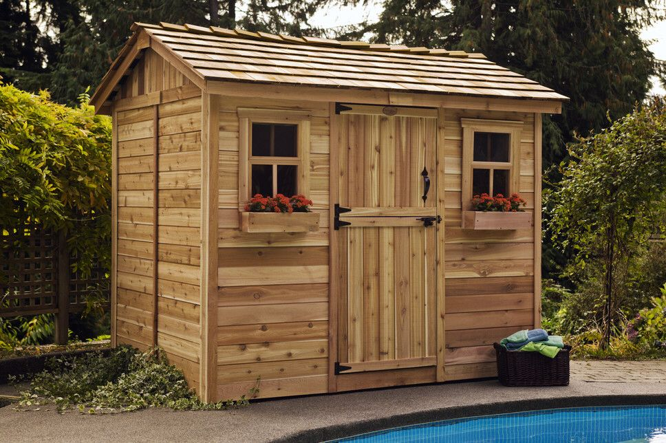 Cabana 9 ft. W x 6 ft. D Wooden Storage Shed   Wooden ... on Outdoor Living Today Cabana id=17527