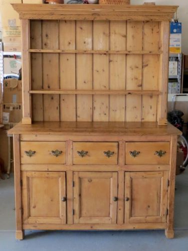 Wonderful Antique English Pine Georgian Hutch Cabinet Buffet CA 1840 Estate Sideboard  | EBay