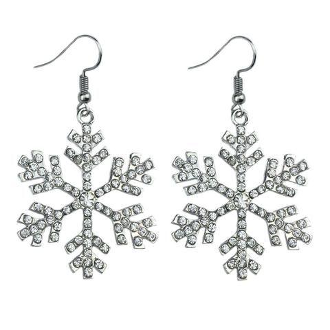 Vv Crystal Snowflake Drop Earring