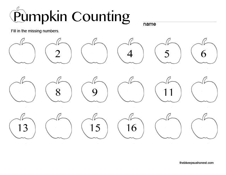 counting pumpkins worksheet for preschoolers counting best free printable worksheets. Black Bedroom Furniture Sets. Home Design Ideas