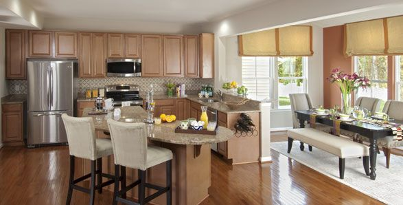 Being a realtor i have worked with many builders these for Kitchen morning room designs