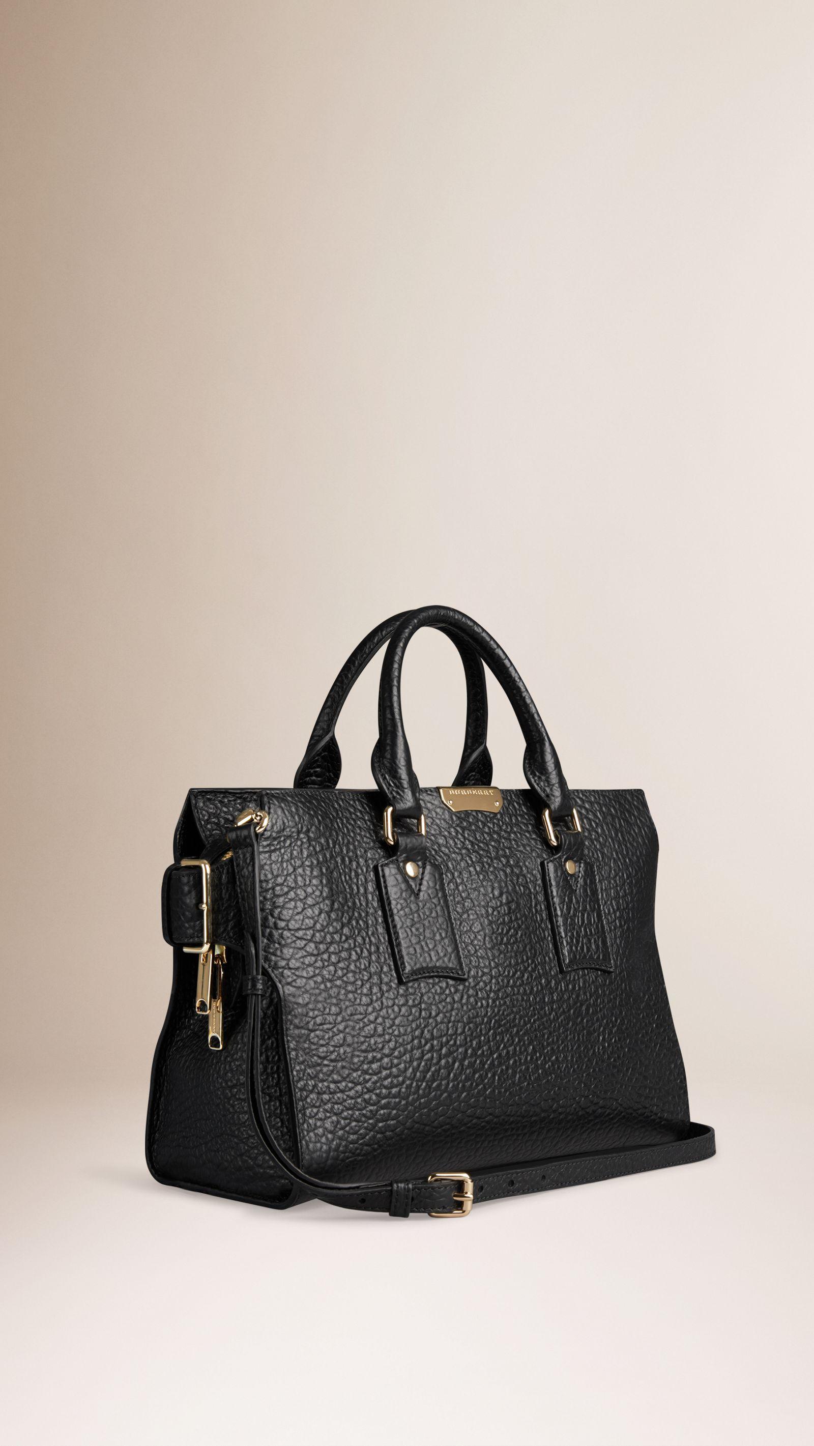 The Medium Clifton in Signature Grain Leather Black  852a27b7bb19a