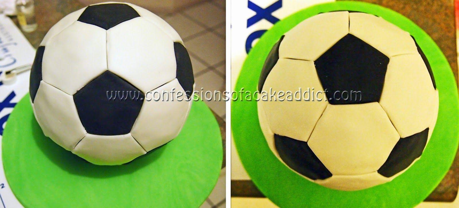 soccer ball cake tutorial | https://lomejordelaweb.es/