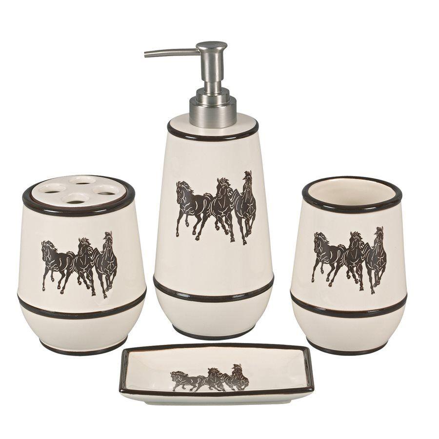 Running Horses Bath Set - 4 pcs - OVERSTOCK   bathroom ideas ...