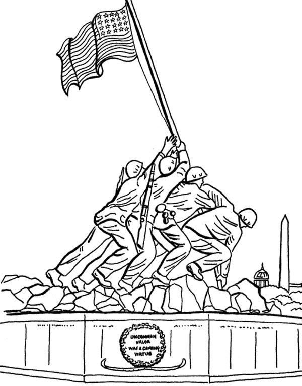 Monument Remembrance Day Coloring Page