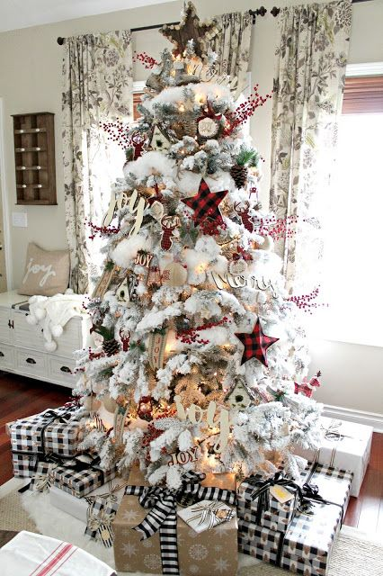A Very Farmhouse Christmas Home Tour Elegant Christmas Trees Christmas Decorations Rustic Tree Farmhouse Christmas