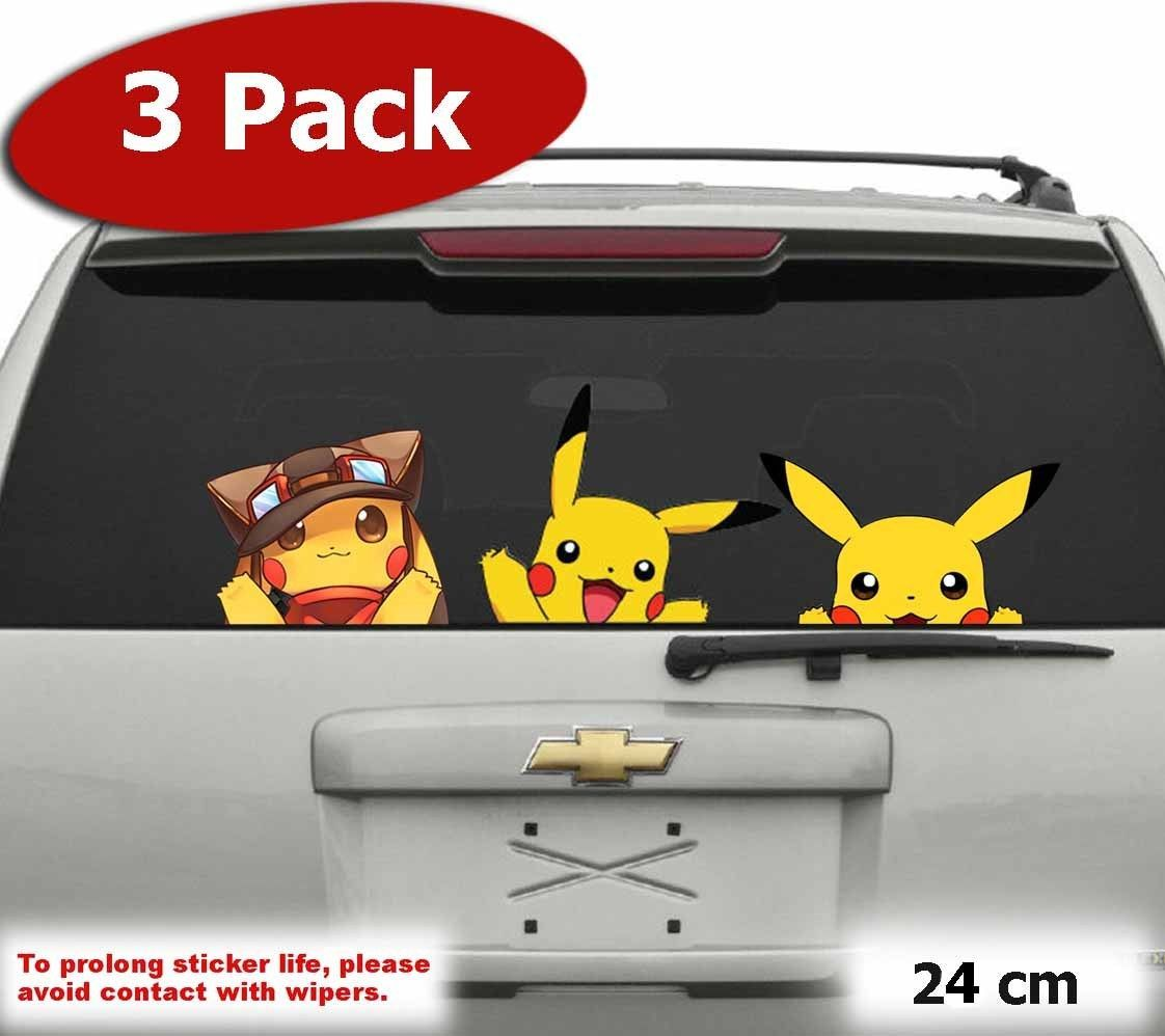Jumbo Pack Cute Pikachu Pokemon Go Car Jdm Wall Window Sticker Vinyl Decal Pikachu Pokemon Go Window Stickers Vinyl Decals [ 998 x 1122 Pixel ]