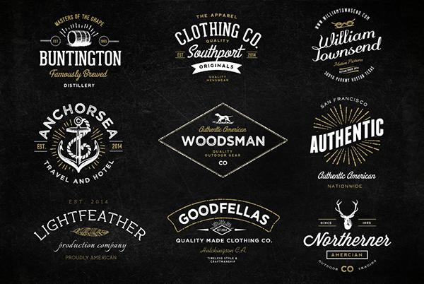 Only Best Sellers Mega Bundle On Behance Vintage Logo Design Logo Design Inspiration Vintage Vintage Logo
