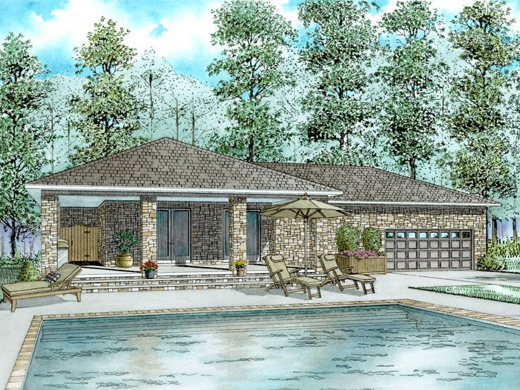Garage Mancave Houses Homes Houseplans Homeplans Poolhouse Loftstyle Inlawsuite Garage Floor Plans Pool House Plans Pool House