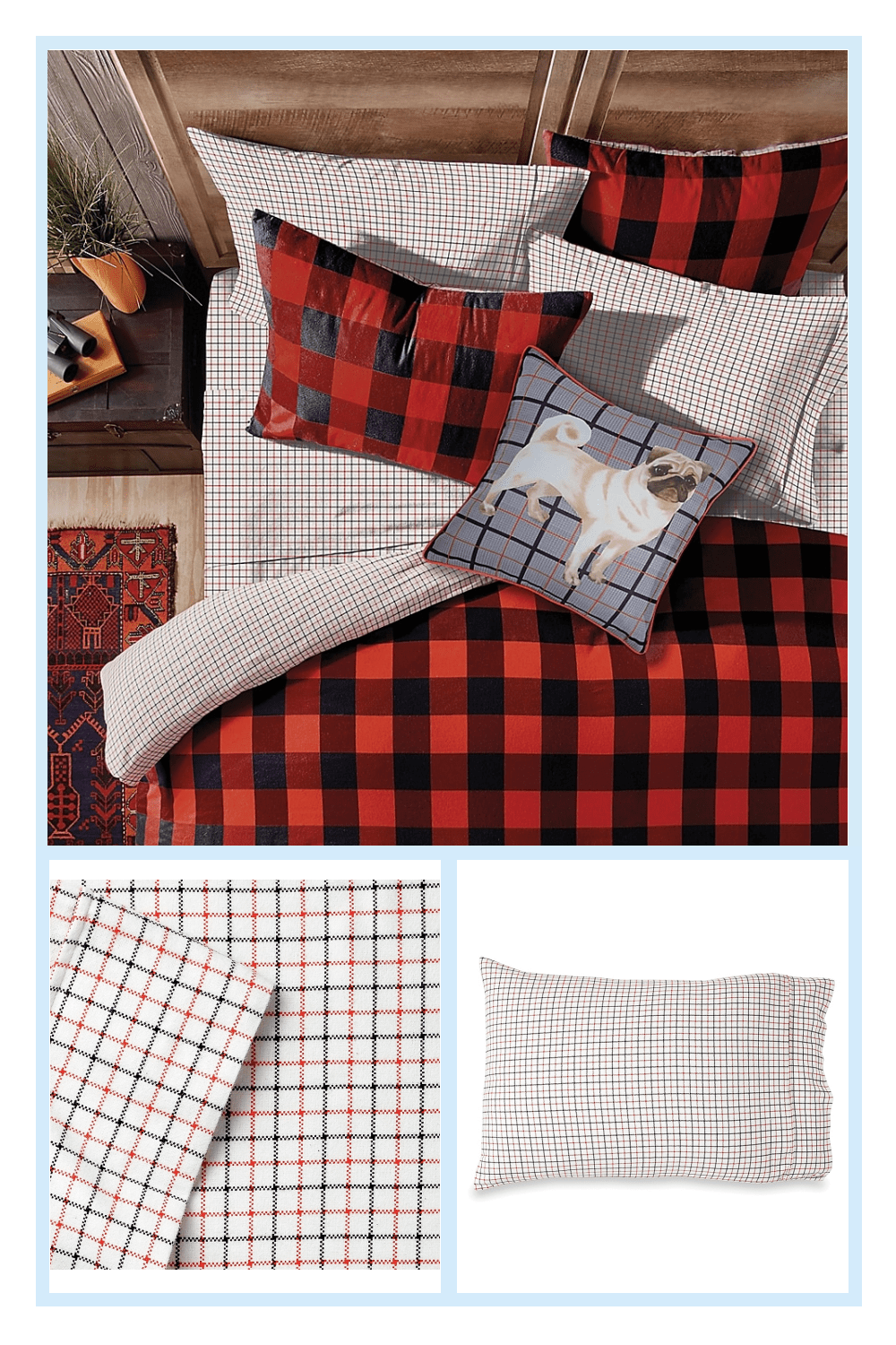 Photo of Small Check Queen Sheet Set Multi