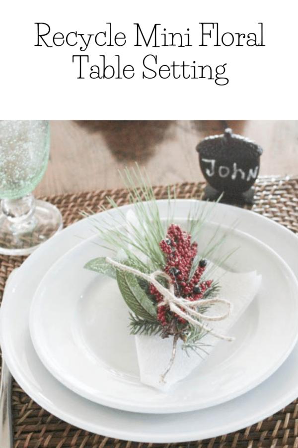 SIMPLE & RECYCLED DIY THANKSGIVING MINI FLORAL TABLESETTINGS Mini Floral Tablesetting: